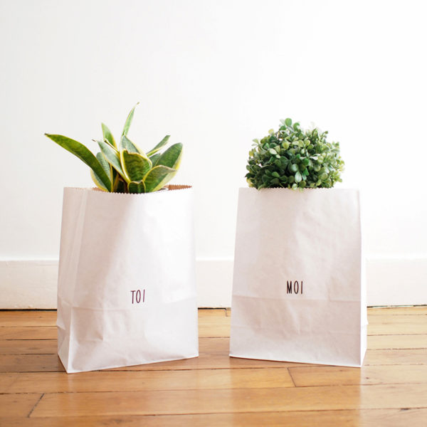 decoration scandinave les sacs en papier kraft