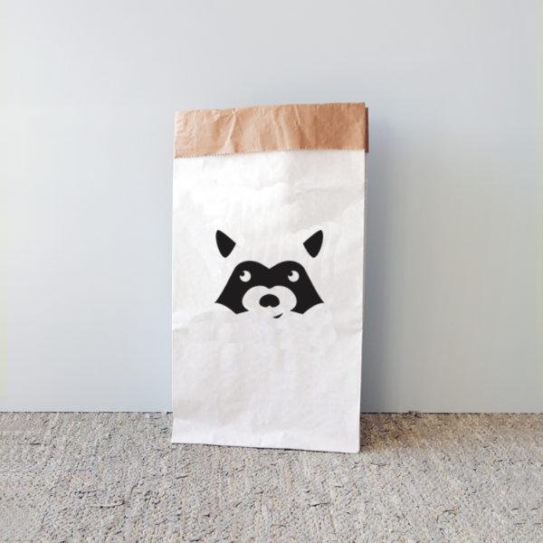 sac en papier racoon