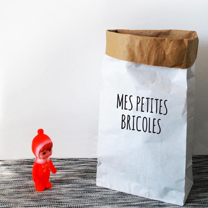 pour ranger la jouets, le sac en papier est une solution déco