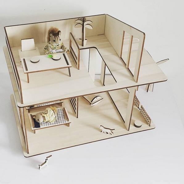 maison de poupée minimaliste et design