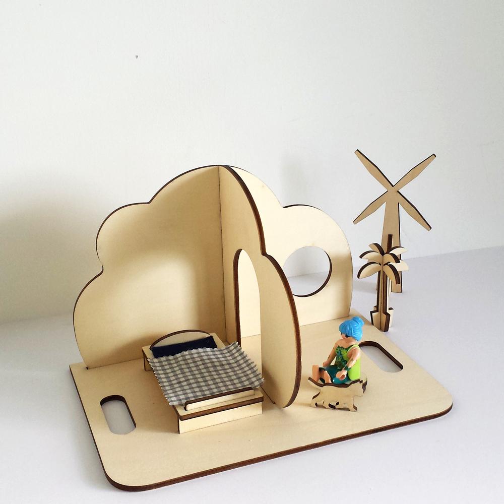 maison de poupée forme nuage par Maison Dubois fabrication française