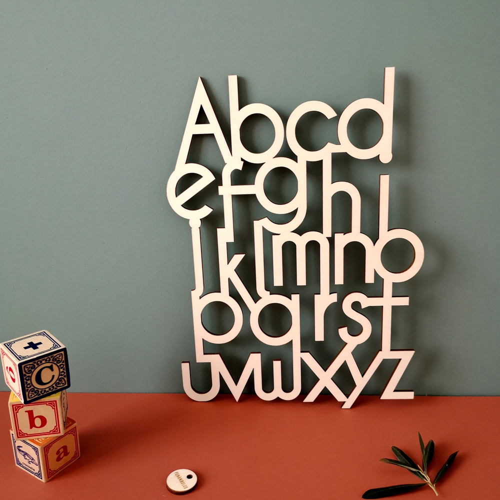wooden abc